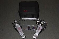 Pearl P2052C Eliminator Redline Chain Drive Double Kick Pedal w/case
