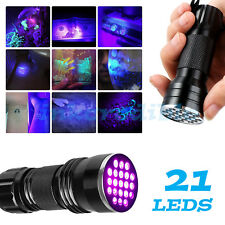 Black Light LED UV Torch Ultra Violet Counterfeit Money Security Marker Detector