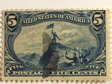 US Scott 288 Trans Mississippi Exposition Fremont On Rocky Mountain 1898 5c Cent