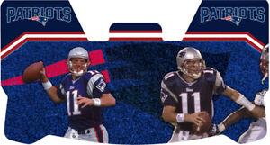 Custom New England Patriots Drew Bledsoe Football Helmet Visor W Unbranded Clips