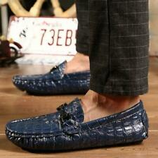 New Fashion Men's Driving Moccasin Loafers Casual Shoes alligator Print Leather