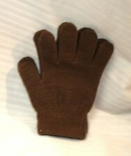 Elementary Boys' ABG Accessories Solid Brown Acrylic Winter Gloves One Size NW0T