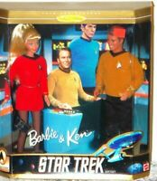 1996 Star Treck Barbie and Ken Dolls by Matel with Original Box 30th Anniversary
