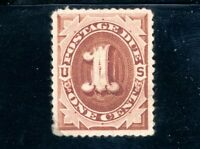 USAstamps Unused VF-XF US 1879 Postage Due Scott J1 OG MLH