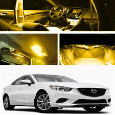 Yellow Interior LED Light Bulb Package Kit For 2012 - 2016 Mazda 6 Mazdaspeed2