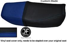 Negro y Azul Real Vinilo Personalizado SE AJUSTA a HONDA CB 250 Nighthawk Doble Cubierta de asiento solamente