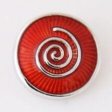 Button Click Druckknopf K7845 Spirale Rot  - kompatibel Chunk System Armband