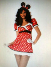 Womens Sexy MINNIE MOUSE POLKA DOT Fancy Dress Costume Outfit