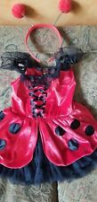 High quality ladybug costume dress up girls 6