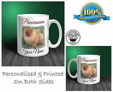 Pomeranian Personalised Ceramic Mug: Perfect Gift. (D288)