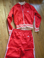VINTAGE ARENA SWEATPANTS AND JACKET SIZE SMALL(LOOK AT MEASUREMENTS) RED