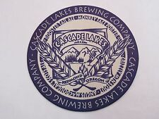 Beer Bar Coaster ~ CASCADE LAKES Brewing Co Monkey Face Porter, Rooster Tail Ale