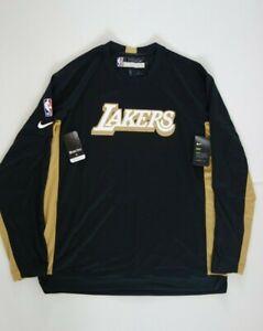 Nike NBA LA Lakers Issued Warmup Shoot Around shirt AV0995-010 L-T