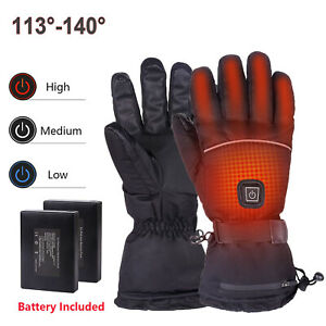 USB Electric Heated Gloves 3 Heating Level Touch Screen Waterproof Winter Mitten