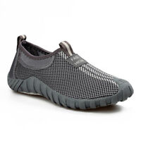 Men's Summer Breathable Mesh Shoes Lightweight Slip On Loafers Walking Sneakers