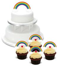 NOVELTY RAINBOW Clouds Stars PACK 2 Large 12 Cupcake STAND UP Cake Toppers