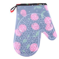 Oven Gloves Baking BBQ Cooking Silicone Cotton Heat Resistant Mitts S