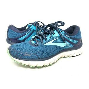 Brooks Adrenaline GTS 18 Sneakers Blue Teal Athletic Running Shoes Womens Size 7