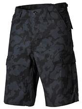 US BDU Bermuda NIGHT CAMO Army cargo Shorts Hose Kurz w Seitentasche XXL XXLarge