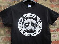 Todos los gatos son hermosas Camisa Negra L grandes Vegano Lil Bub Alf Grumpy Cat