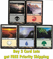100 MTG Basic Lands 20 Each Mountain Swamp Island Forest Plains Magic Mana Cards