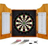 Solid Wood Professional Dart Cabinet Set Dry Erase Board Set of Darts
