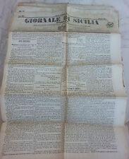 Giornale di Sicilia officiale anno XII n° 225 (3 ottobre 1874) bollo Palermo 1 c