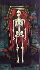 Halloween Skeleton Dungeon Red Coffin Bats Wall Mural 42 x 72 New