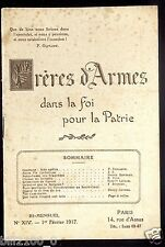 Frères d'armes dans la foi pour la patrie N° 14  février 1917 N.D.des tranchées