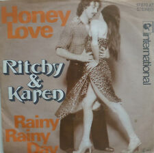 "7"" 1977 INSTRUMENTAL! RITCHY & KAREN : Honey Love /M-?"