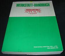 Werkstatthandbuch Daihatsu Applause Grundhandbuch Stand September 1989