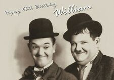 PERSONALISED LAUREL AND HARDY BIRTHDAY CARD