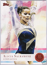 2X ALICIA SACRAMONE Gymnastics BRONZE Parallel Card 11 Topps 2012 FREE SHIPPING