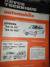 Citroen BX 16 RS TRS : revue tech RTA 431