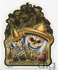 Mexican DAY OF THE DEAD Aztec Sticker/Decal VERY RARE Discontinued COLLECTIBLE