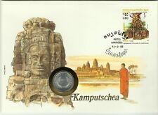 KAMPUCHEA MONUMENT EDIFICE RELIGIEUX TEMPLE BOUDHISTE CULTURE KHMERE MOINE 1983
