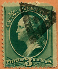 Late-19th C. US Stamp w/ Fancy TRIANGLE-in-TRIANGLE Cancel ~Free Shipping..b16