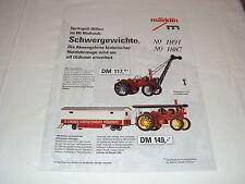 W/3/13/1 Modellautos Blechspielzeug Katalog Prospekt Märklin Oldtimer Spu H0 93