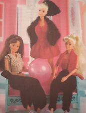 Vintage Knitting Pattern Doll Sindy Barbie Clothes Party Outfits 11inch in DK