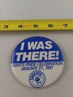 Vtg New York Giants 1987 Pride Celebration Shop Rite pin button Football EE78