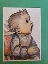 Vintage HUMMEL POSTCARD #14634 ~DETAIL~RARE~West Germany, Josepf Mueller