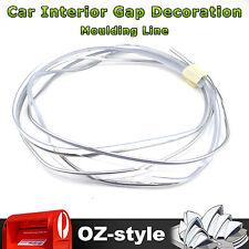 28M Gap Line Interior Moulding Car Edge Trim Accessory Universal Strip Silver OZ