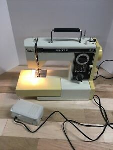 VTG Sewing Machine - Jean Machine - WHITE  - 1099 - WORKS AND LOOKS GR8 + Cords