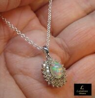 8.8 ct  NATURAL Opal - Sapphire Pendant