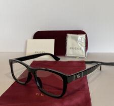 NEW GUCCI Mens GG0640OA 001 Black Eyeglasses Optical Frames W Case & GG