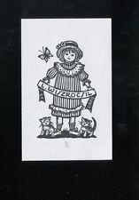 EXLIBRIS,271a, Ella Goldschmidt - Mädchen mit 2 Katzen / Girl with two cats