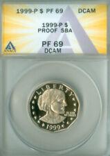 1999 P Proof Susan B Anthony SBA Dollar $1 ANACS PF69 DCAM FREE S/H (2026071)