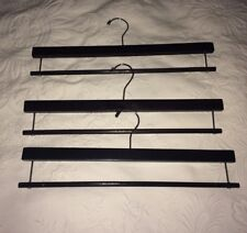 Blanket Hangers Set Of 3 Heavy Duty Dark Wood Good For Small Rugs