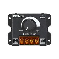 DC12-24V 30A Manual Brightness LED Controller with 0-100% Dimmer ON/OFF Switch