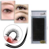 16 Lines Matte Ellipse Flat False Eyelashes Individual C/D Curl Lashes Extension
